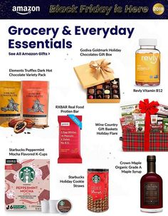 Amazon Black Friday Ad Scan, Deals and Sales 2019 The Amazon 2019 Black Friday ad is here! Be sure to subscribe to our newsletter to receive emails about all the latest Black Friday news and ad leaks ... #blackfriday #amazon Amazon Black Friday, Black Friday Ads, Wine Country Gift Baskets, Holiday Gift Baskets, Amazon Chocolate, Starbucks Peppermint Mocha, Friday News, Chocolate Gift Boxes, Amazon Gifts