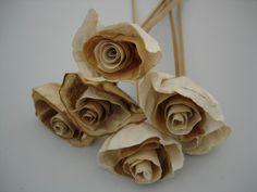 Flores feitas com filtro de café - Artesanato na Rede
