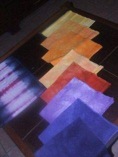 Jessica Proffit dyed these using Slipstream Dye  info@dyeandprints.co.za