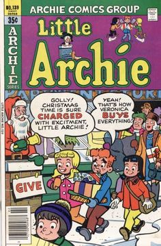 GCD :: Cover :: Little Archie #139 Archie Comic Books, Best Comic Books, Vintage Comic Books, Vintage Comics, Christmas Comics, Christmas Time, Holiday, Archie Comics Riverdale, Archie Jughead