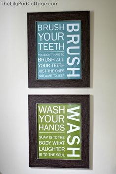 kids bathroom wall ideas | Kids Bathroom Wall arty from Wallfry - ... | Our new Home ideas!