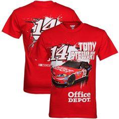Checkered Flag Tony Stewart Slingshot T-Shirt - Red