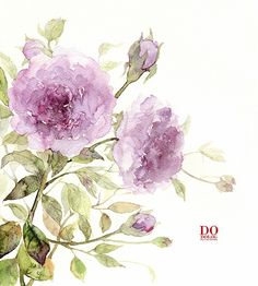 Gorgeous watercolor flowers