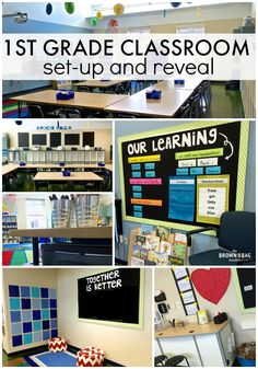 Grade Classroom Reveal: 2015 - 2016 Grade Classroom Reveal: Awesome ideas for set-up and organizing a space. I LOVE the Work on Writing Grade Classroom Reveal: Awesome ideas for set-up and organizing a space. I LOVE the Work on Writing area! Classroom Layout, Classroom Organisation, First Grade Classroom, Classroom Setting, Primary Classroom, Teacher Organization, Classroom Design, Classroom Themes, School Classroom