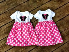 Minnie Mouse birthday onesie dress.