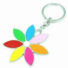 Keychain, Made of Alloy and Enamel, Available in Various Designs, Customized Logos are Accepted