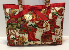 Cowgirl Christmas Handcrafted Handbag by MyCraftyCollectibles, $35.00
