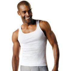 Hanes Men's TAGLESS® ComfortSoft® Tank Undershirt 4X-5X 3-Pack
