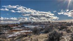Sportsman Park (clouds winter sky trees ). Photo by richardb