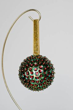 Sequin and bead ornament
