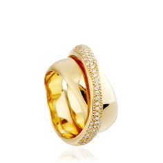 Gold 'Cycle' #ring by Carla Amorim at Astley Clarke