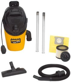 The Shop-Vac Shop-Pac vacuum is designed to tackle large areas with minimal effort and also enables its user to clean the toughest, hard-to-reach spots.