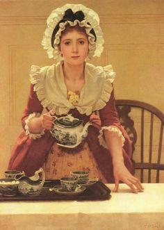 """""""Tea"""" -- by George Dunlop Leslie (British, 1835 – 1921)"""