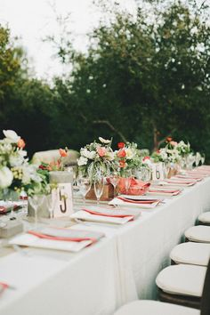 orange, ivory, gold and green table setting
