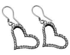 CZ Deluxe Joy Heart Earrings on SonGear.com - Christian Shirts, Jewelry