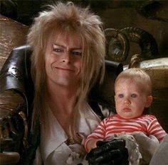 Goblin King and Toby David Bowie Labyrinth, Labyrinth Film, Jim Henson Labyrinth, Jareth Labyrinth, Labyrinth Tattoo, Badass Movie, Labrynth, Goblin King, The Dark Crystal