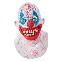 AFfeco Natural Latex Halloween Fun Clown Mask Horror Ghost Head Cover Scary Tools Tag a friend who would should wear this! Scary Halloween Masks, Scary Costumes, Halloween Parties, Tv Character Costumes, Clown Mask, Natural Latex, Horror, Entertainment, Cosplay