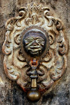 Detail of a door in the old town of Antigua, Guatemala.