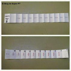 Librito tablas de multiplicar. Interesante