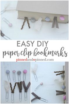 You never knew making bookmarks could be so easy! via @pinnedandrepinn