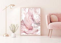 Pink Master Bedroom, Blush Pink Bedroom, Pink Bedrooms, Rose Bedroom, Girls Bedroom, Pink And Grey Room, Pink Room, Pink Wall Art, Pink Art
