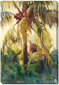 "Wild Coconut II Limited Edition Giclee 48"" High Wall Art | 55DowningStreet.com"