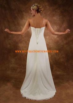 Robe de mariée originale courte en avant avec petite traîne