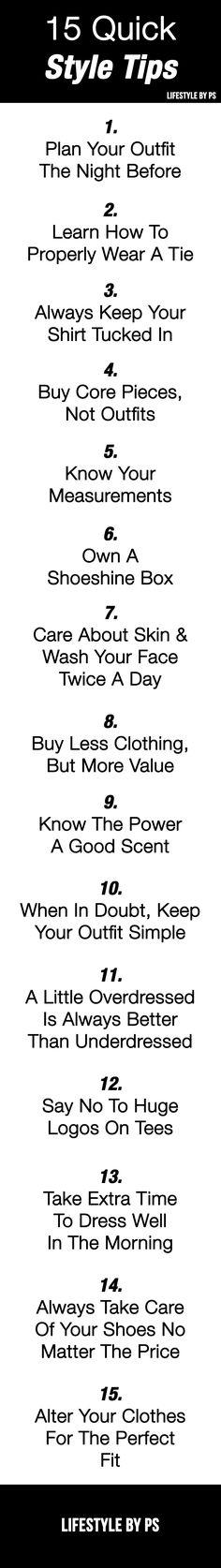 15 style tips for men
