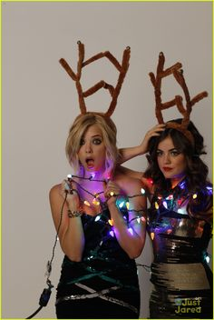 Lucy Hale & Ashley Benson: Holiday Bongo Shoot
