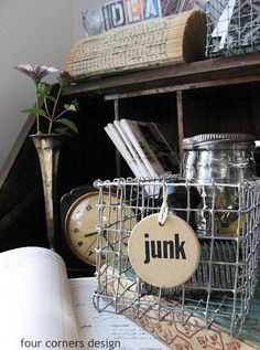 four corners design: Wonderfully wired, make your own wire baskets!