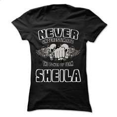 NEVER UNDERESTIMATE THE POWER OF SHEILA - Awesome Name  - #mens shirt #hoddies. CHECK PRICE => https://www.sunfrog.com/LifeStyle/NEVER-UNDERESTIMATE-THE-POWER-OF-SHEILA--Awesome-Name-Team-Shirt-.html?60505