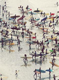 Bunch of longboarders