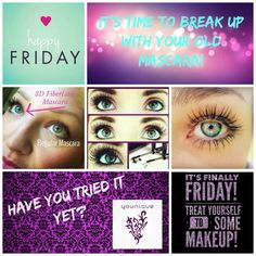 "Friday means PAYDAY!!! Get your 3D Fiber and throw out that ""boring mascara!"" Order here: www.youniquebydeidre.com"