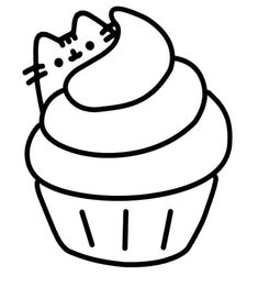 Pusheen Coloring Pages, Stitch Coloring Pages, Cupcake Coloring Pages, Fox Coloring Page, Birthday Coloring Pages, Easy Coloring Pages, Summer Coloring Sheets, Finding Nemo Coloring Pages, Pusheen Stickers