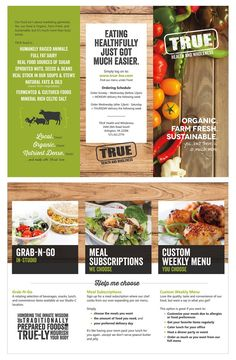 Tri-fold brochure design for TRUE Health and Wholeness food | Heth ...