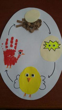 Chicken or egg or chicken? Chicken or Egg or Chicken ? Easter Art, Easter Crafts For Kids, Diy For Kids, Preschool Art Activities, Spring Animals, Arts And Crafts, Paper Crafts, Bunny Crafts, Spring Art