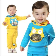 Infants #Clothing Sets# Long Sleeves+Pants An Owl Hooded Suit Spring And Autumn Candy Colored Suit Leisure Suit Baby Clothes Y30130 From Dhgatc, $46.98 | Dhgate.Com