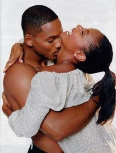 Inspiring Couple - Will Smith and Jada Pinkett Smith. I love black love The Kiss, Kiss Him Not Me, Black Love, My Black Is Beautiful, Beautiful Couple, Simply Beautiful, Black Men, Image Couple, Photo Couple