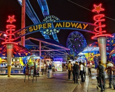 The Midway of the Texas State Fair in Dallas