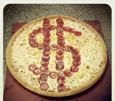 Would you spend some dough on this Tax Day concept pizza? #pizza #godfatherspizza #researchanddevelopment