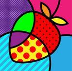 Pop art inspiration for class Romero britto palette strawberry basic simple wasy Pintura Graffiti, Graffiti Painting, Pop Art Pour Les Enfants, Illustration Pop Art, Arte Elemental, Pop Art For Kids, Tableau Pop Art, Fruit Vector, Modern Pop Art