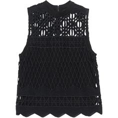 Kendall + Kylie Crochet Black // Crochet top (415.785 COP) ❤ liked on Polyvore featuring tops, blusas, my clothes, crochet top, kendall kylie top, macrame top, slimming tops and semi sheer top