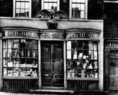 Peter Jones, Son  Mundy, chemist's shop at 9 Folegate, Aldgate, London in the late Victorian era.