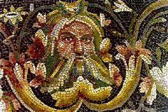 Maschera di Acheloo in mosaico romano, da Zeugma (Turchia)