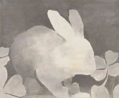 monochrome bunny