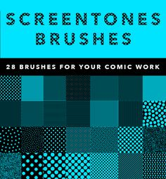 Check out SCREENTONES BRUSHES by Photoshop Tools on Creative Market