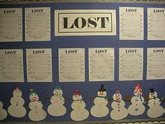 Create a snowman, and describe the snowman so that others can find the one that is yours. Very cute for a Winter Writing board!
