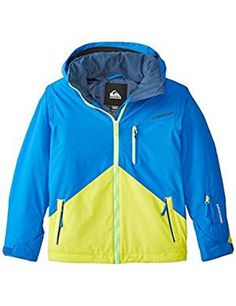 Quiksilver Mission Jacket Olympian X Large. -- For more information, visit image link. (This is an affiliate link) Snow Wear, Big Boys, Boy Fashion, Latest Fashion Trends, Image Link, Youth, How To Wear, Jackets, Color