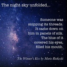Another great #bookquote from #TheWinnersKiss! The imagery made it one of my favs from the book!
