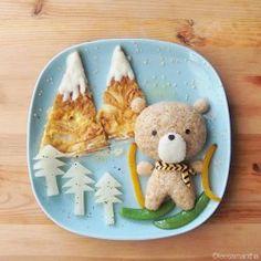 Impiattare con creatività per i bambini: un orsetto sulla neve